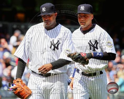 New York Yankees - Derek Jeter, CC Sabathia Photo Photo
