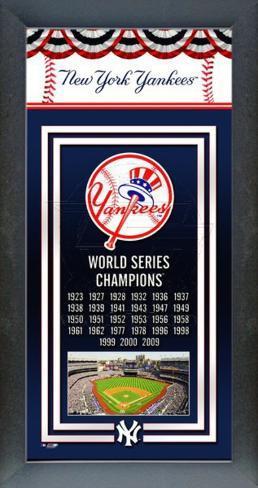 New York Yankees Framed Championship Banner Framed Memorabilia