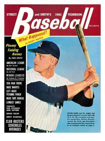 New York Yankees' Roger Maris - Street and Smith's - July 15, 1962 Stretched Canvas Print