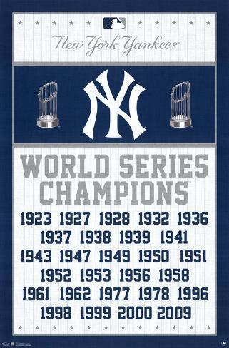new york yankees world series champions posters at