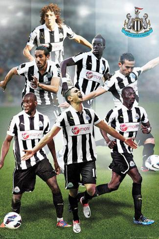 Newcastle United FC 2012/13 Players Poster