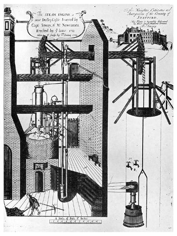 Newcomen's Steam Engine for Draining Mines, 1956 Giclee Print