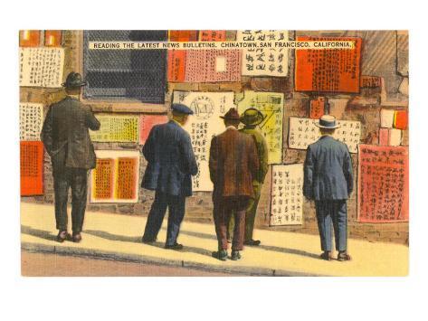 Newspapers in Chinatown, San Francisco, California Art Print