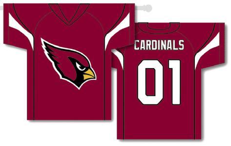 NFL Arizona Cardinals 2-Sided Jersey Banner Flag