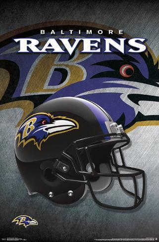 f0866ad64 NFL  Baltimore Ravens- Logo Helmet 16 Pôsters na AllPosters.com.br