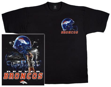 NFL  Broncos Logo Sky Helmet Camiseta na AllPosters.com.br d91575579eb1c