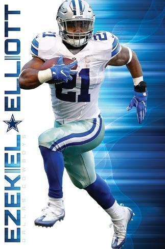 NFL: Dallas Cowboys- Ezekiel Elliott 2016 Pôster