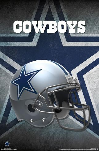 NFL: Dallas Cowboys- Helmet Logo Pôster
