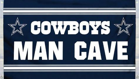 NFL Dallas Cowboys Man Cave Flag with 4 Grommets Flag