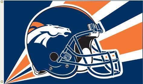 NFL Denver Broncos Flag with Grommets Flag