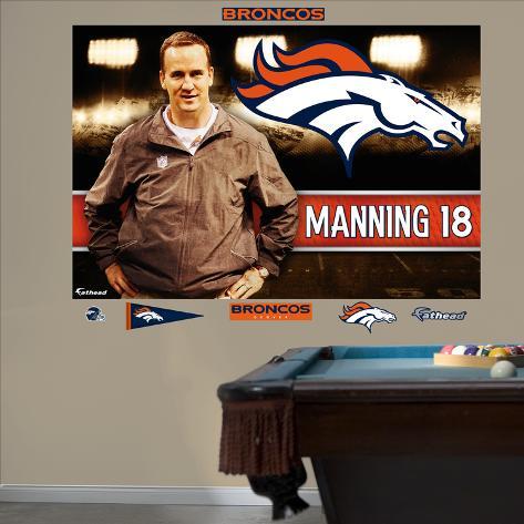 NFL Denver Broncos Peyton Manning Broncos Montage Mural Decal Sticker Wall Decal