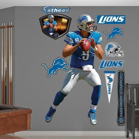 NFL Detroit Lions Matthew Stafford 2012 Blue Wall Decal Sticker Wall Decal