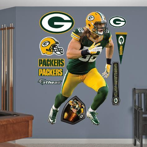 ... Nfl Green Bay Packers Clay Matthews Nike Wall Decal Sticker Wall ... Part 25