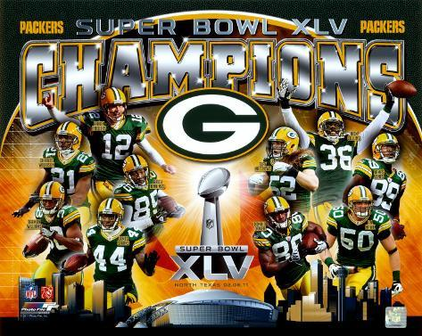 NFL Green Bay Packers Super Bowl XLV Champions Composite (Horizontal) Photo
