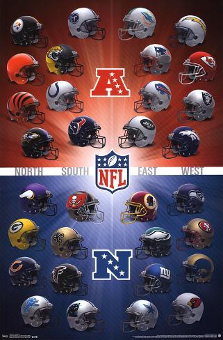 NFL- Helmets 2016 Pôster