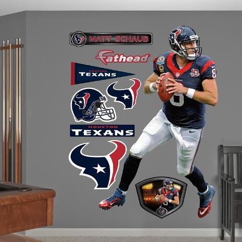 NFL Houston Texans Matt Schaub Wall Decal Sticker Wall Decal