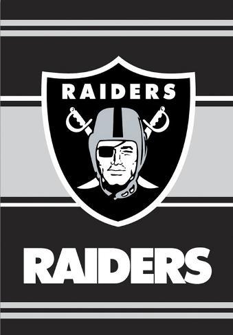 NFL Oakland Raiders 2-Sided House Banner Flag