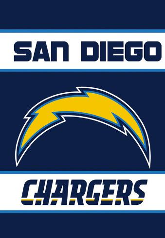 Nfl San Diego Chargers 2 Sided House Banner Flag