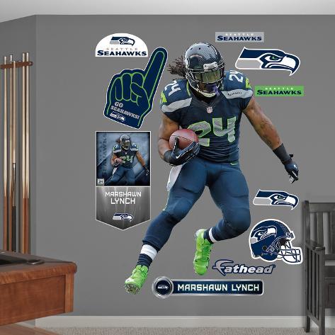 NFL Seattle Seahawks Marshawn Lynch Wall Decal Wall Decal