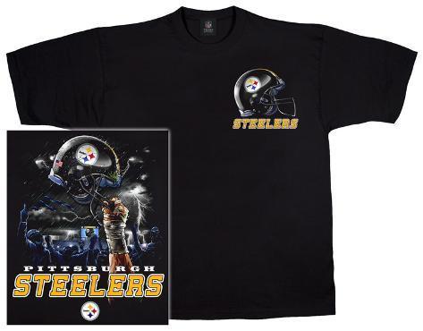Nfl steelers logo sky helmet t shirts for Custom t shirt printing pittsburgh