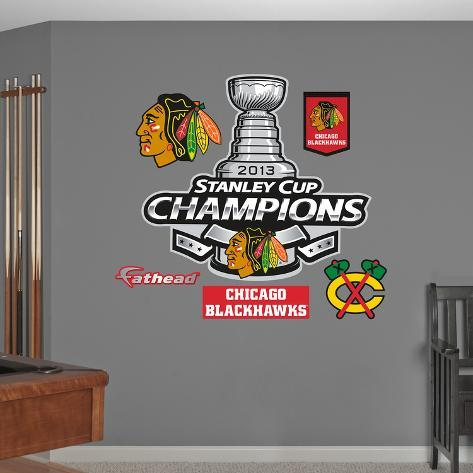 NHL Chicago Blackhawks 2013 Stanley Cup ChampsLogo Wall Decal Sticker Wall Decal