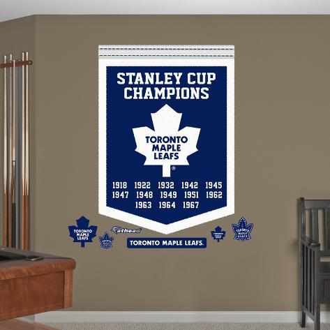 Nhl toronto maple leafs stanley cup championships banner wall decal sticker