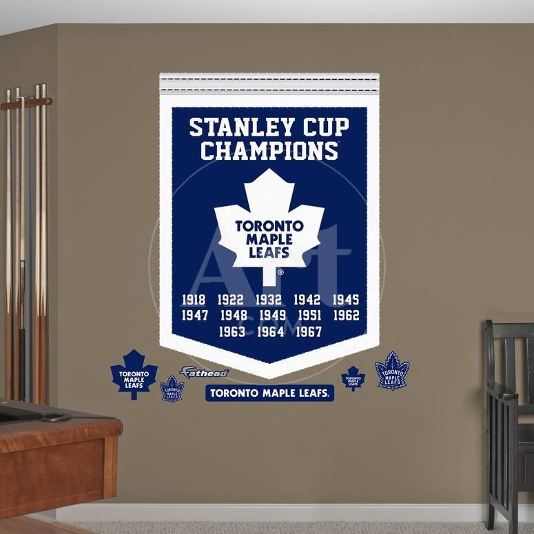 Nhl Toronto Maple Leafs Stanley Cup Championships Banner Wall Decal Sticker Wall Decal Allposters Com