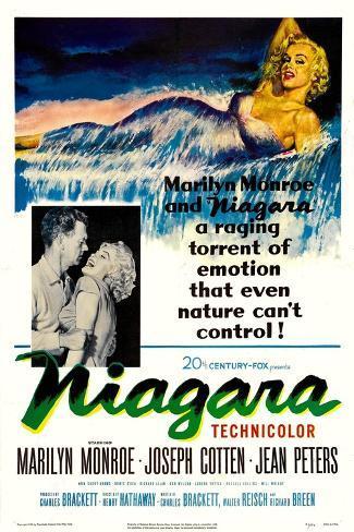 Niagara, 1953, Directed by Henry Hathaway Impressão giclée