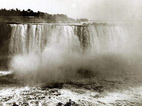 Niagara Falls Canada, April 1970 Photographic Print