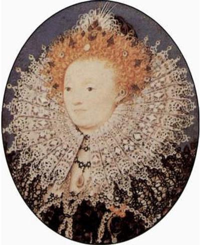 Nicholas Hilliard (Portrait of Elizabeth I, Queen of England, Oval) Art Poster Print Masterprint