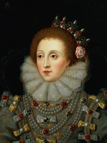 Portrait of Queen Elizabeth I (1533-1603) Lámina giclée
