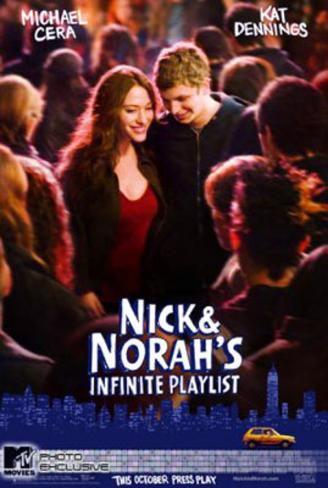 Nick And Norahs Infinite Playlist (Michael Cera, Kat Dennings) Movie Poster Double-sided poster