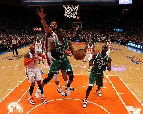 Boston Celtics v New York Knicks - Game Three, New York, NY - APRIL 22: Rajon Rondo and Jared Jeffr Photo