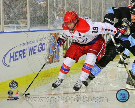 Nicklas Backstrom 2011 NHL Winter Classic Action Photo
