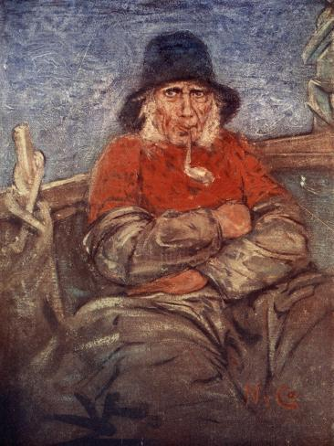 An Old Fisherman of Scheveningen, 1904 Giclee Print