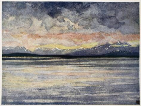 Mountains and Fjord Facing Molde, 1905 Giclee Print