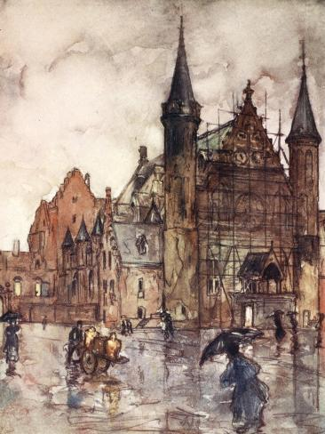 The Binnenhof, the Hague, 1904 Giclee Print