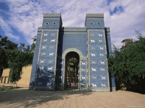ishtar gate babylon iraq middle east photographic print by nico