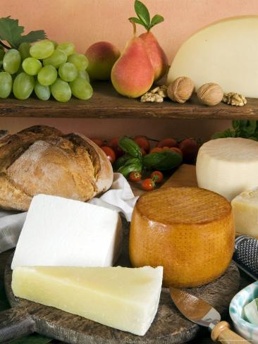 Italian Cheeses, Italy Photographic Print