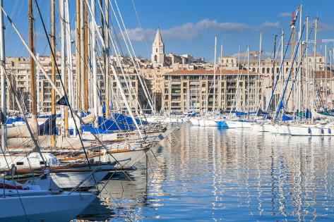 View across the Vieux Port Photographic Print