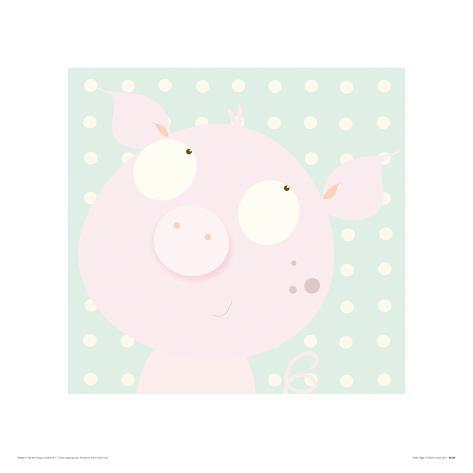 Pinky Piggy Giclee Print