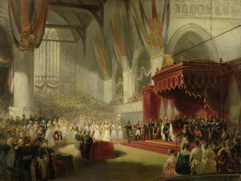 Inauguration of King William II in the Nieuwe Kerk in Amsterdam on 28 November Art Print