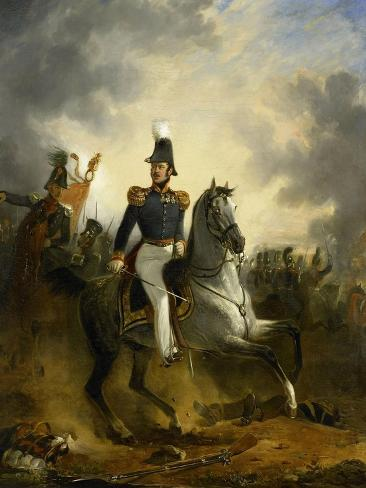 Lieutenant-General Frederik Knotzer in the Battle of Houthalen, During the 10 Days Campaign Art Print