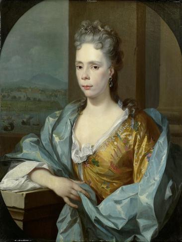 Portrait of Elisabeth Van Riebeeck, Daughter of Abraham Van Riebeeck, Wife of Gerard Van Oosten Art Print