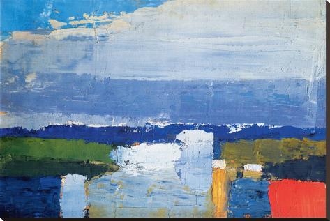 Noon Landscape Stretched Canvas Print