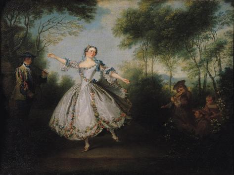 Marie-Anne Cuppi (1710-70) known as La Camargo, Dancing, 1730 Lámina giclée