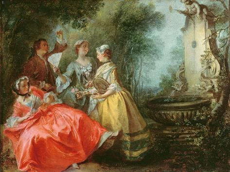 The Four Times of the Day: Midday, C.1739-41 Lámina giclée