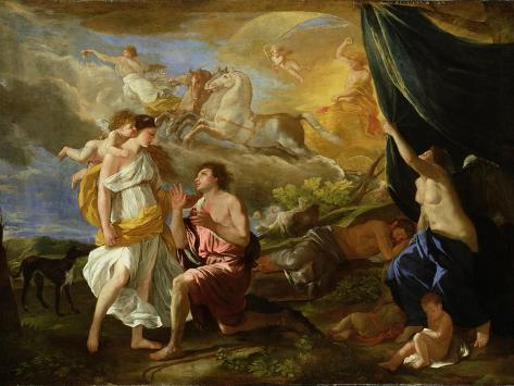 Selene and Endymion, c.1630 Stampa giclée