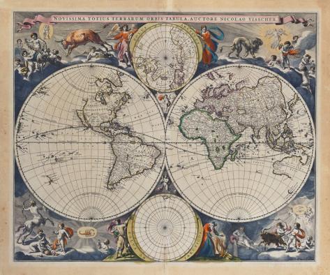 Novissima Totius Terrarum Orbis Tabula, 1679 Premium Giclee Print