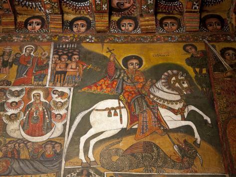 Ethiopia, Gondar, Debre Birhan Selassie Church Photographic Print